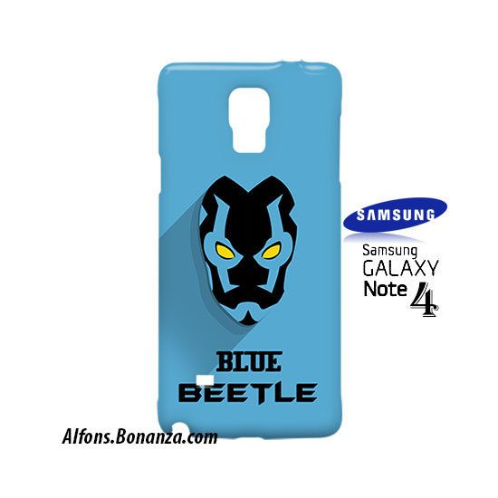 Blue Beetle Superhero Samsung Galaxy Note 4 Case