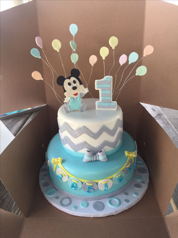 Images Of Mickey Mouse St Birthday Cakes