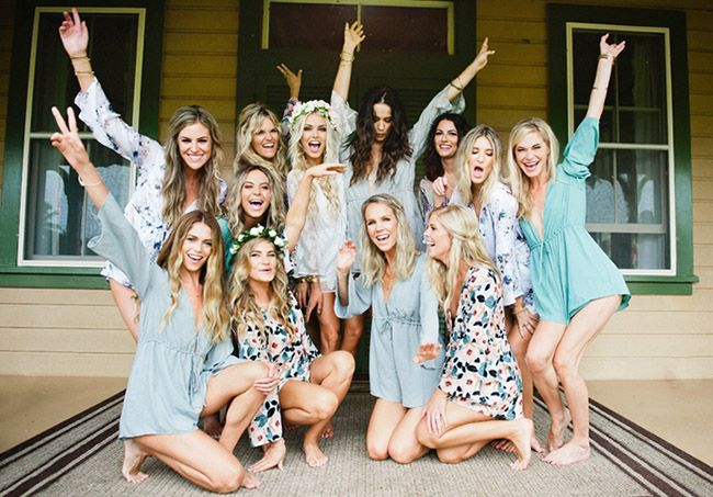 HOLY COW! The day you've been waiting for has finally arrived!Lets make it  wonderful from the moment you wake up, starting with getting ready with  your ladies!