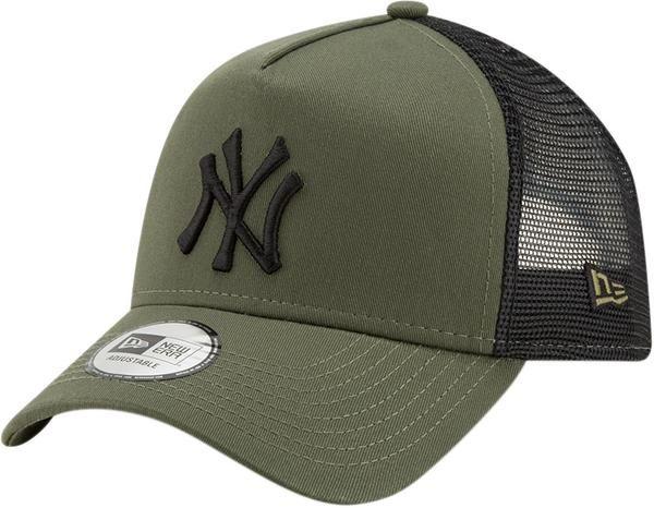 da1b3f78aa8 New Era Kids League Essential Trucker Cap. Olive Green with the Black NY  front logo