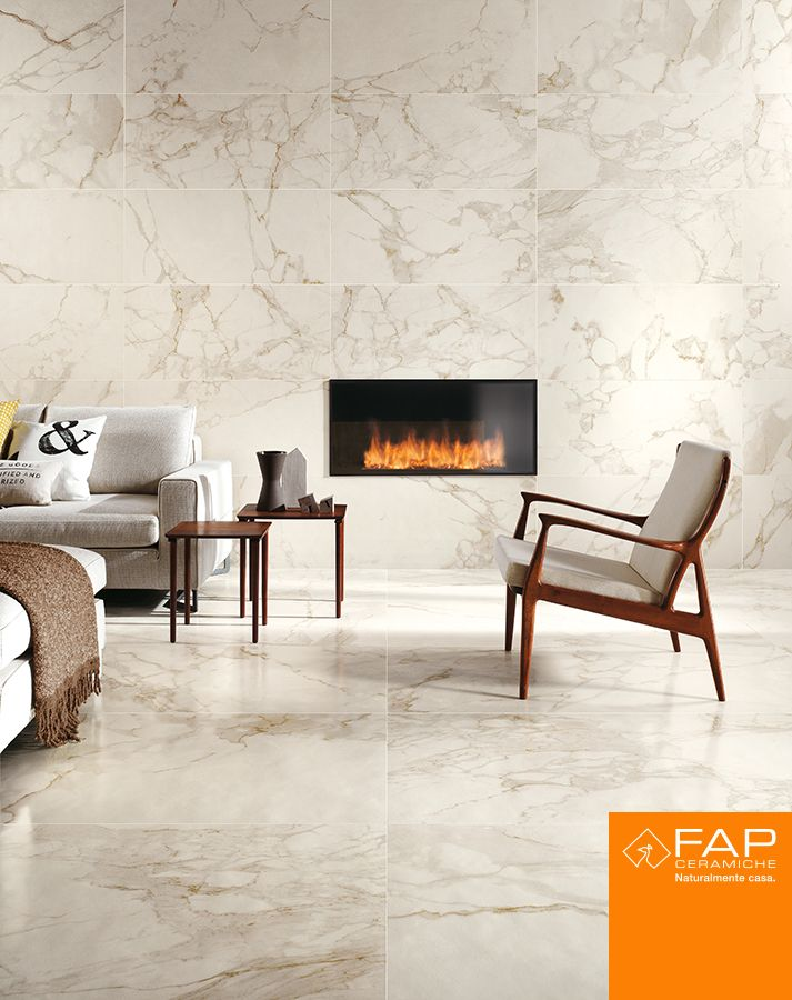 #Roma Calacatta: 75x150 Lux, the wonder of marble, the practical features of porcelain stoneware.