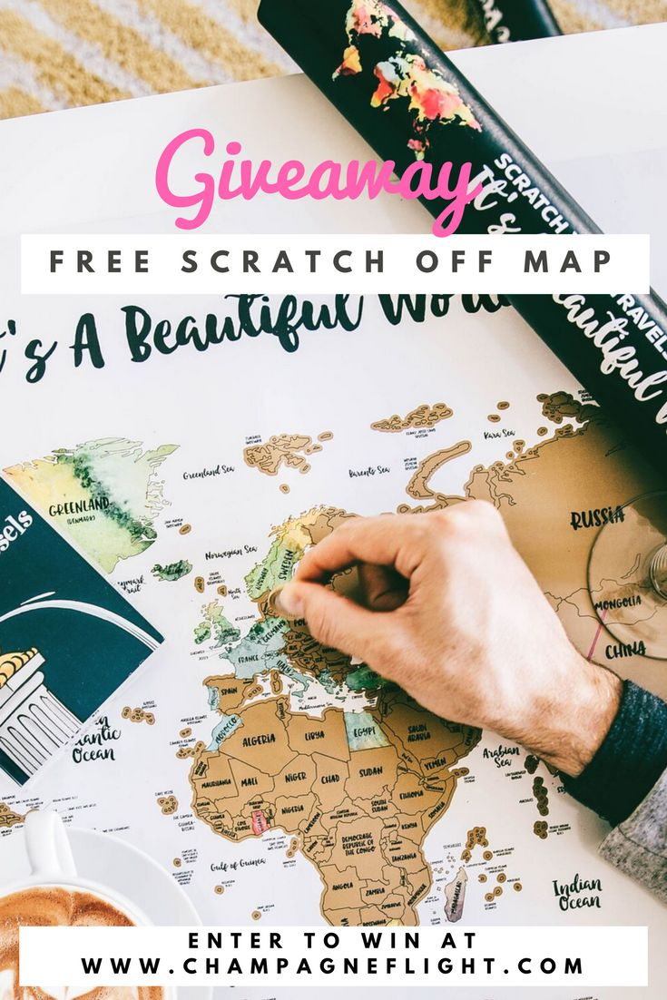 Enter to win a FREE Scratch Your Travels®️ Map from JetsetterMaps. Two lucky winners will get to choose a map layout from four incredible options: the entire world, USA, Europe, or Canada. This is an awesome way to keep track of your adventures and serves as a gorgeous art piece! Winners will be announced via email #travel #wanderlust #maps