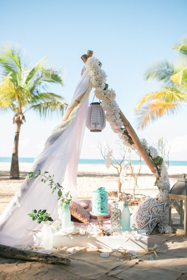 Use this boho inspiration to create the perfect summer beach wedding.