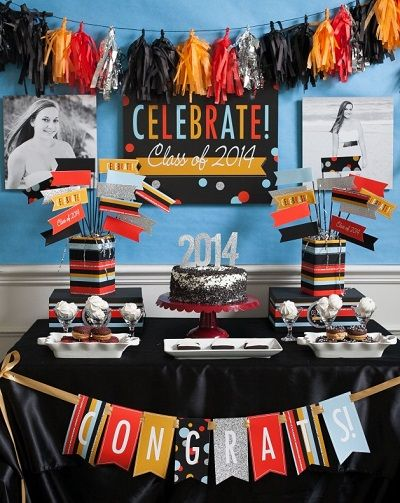 Graduation party dessert table idea