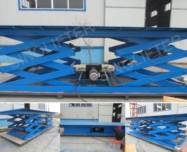 car scissor lift, 2500kg capacity, 3m lifting height, 5*2m platform size (http://sinolifter.com/stationary-scissor-lift/car-scissor-lift-2500kg.html)