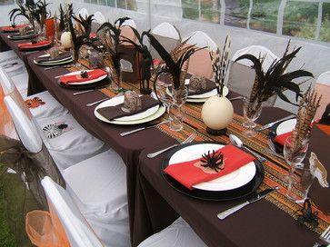 African themed summer party in the garden - tropical - other - london - Krissie…
