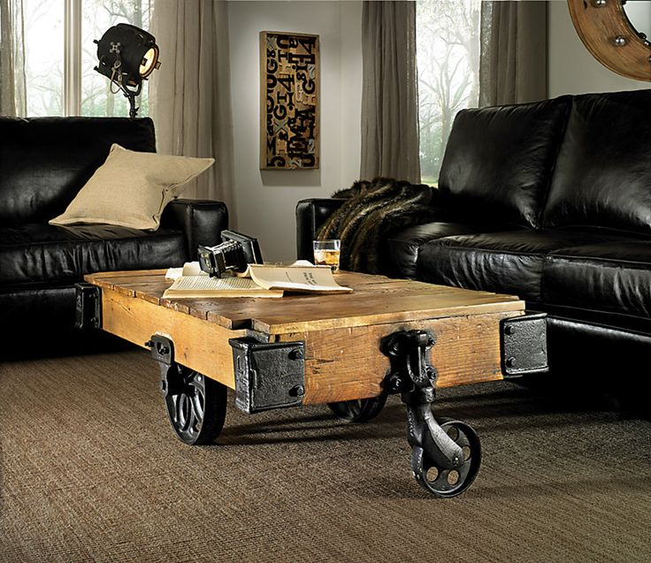 Add Some Americana To Your Room! This Unique Coffee Table Is Modeled After  Classic Western Wagon Carts. The Reclaimed Pine And Aged Black Metal  Accents Give ...