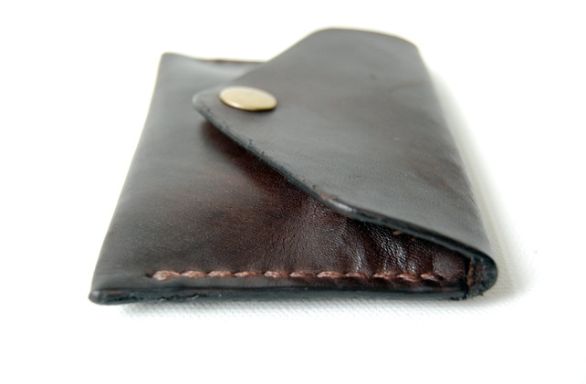 Dark Brown Leather Pocket Wallet.