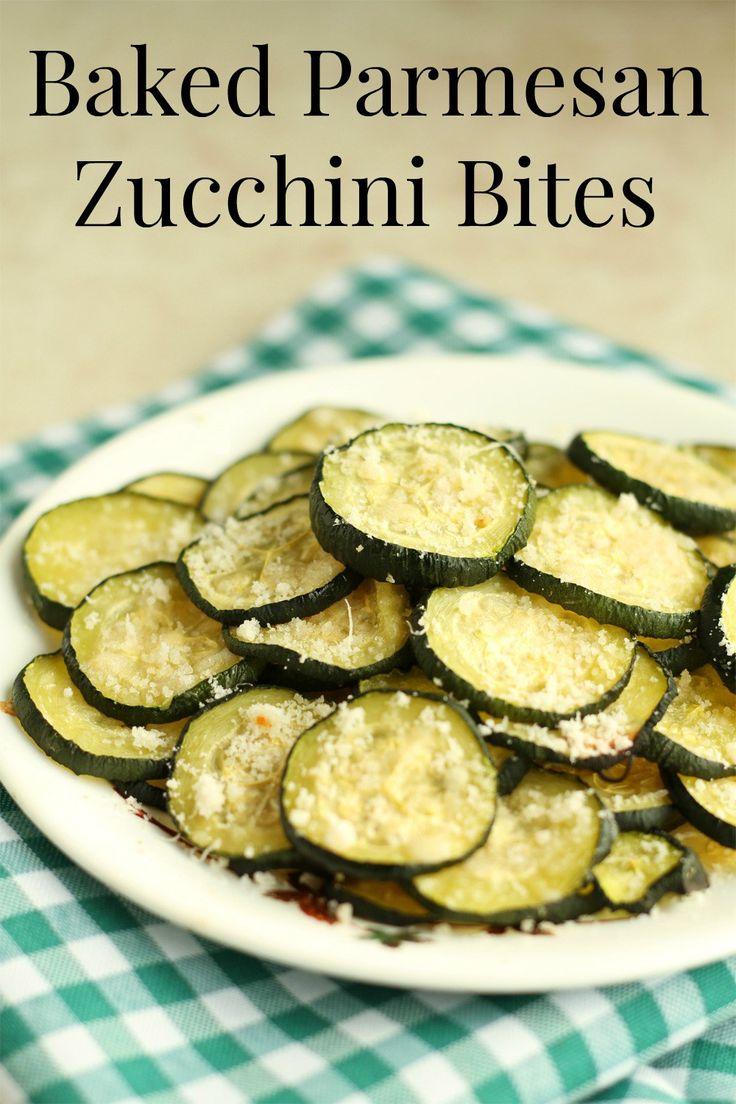 Baked Parmesan Zucchini Bites Recipe