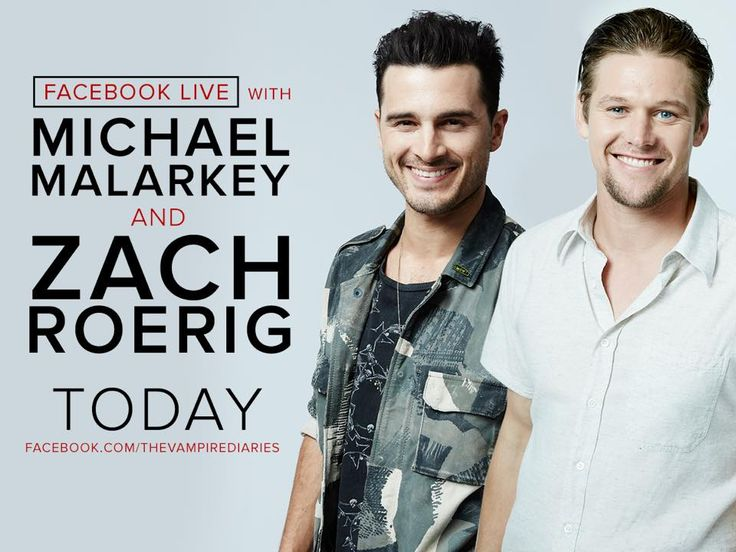 Chat LIVE with Michael Malarkey and Zach Roerig today here on our Facebook page!