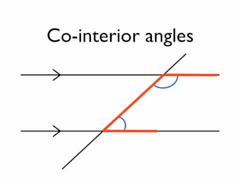 Angles in parallel lines co interior angles youtube - Exterior and interior angles formula ...