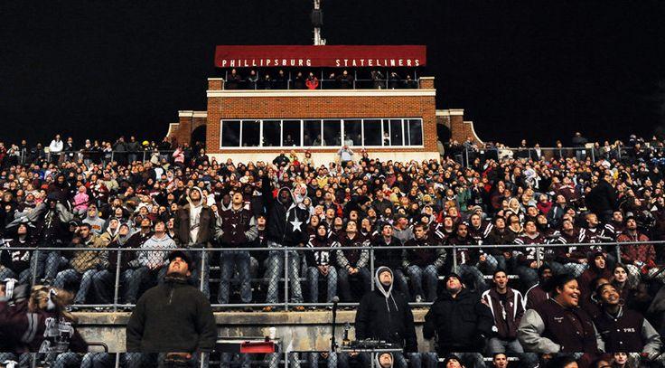 The Friday night high school football games are popular