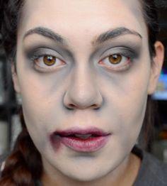 TATUM H MAKEUP: EASY zombie (or vampire/anything dead) halloween tutorial:)