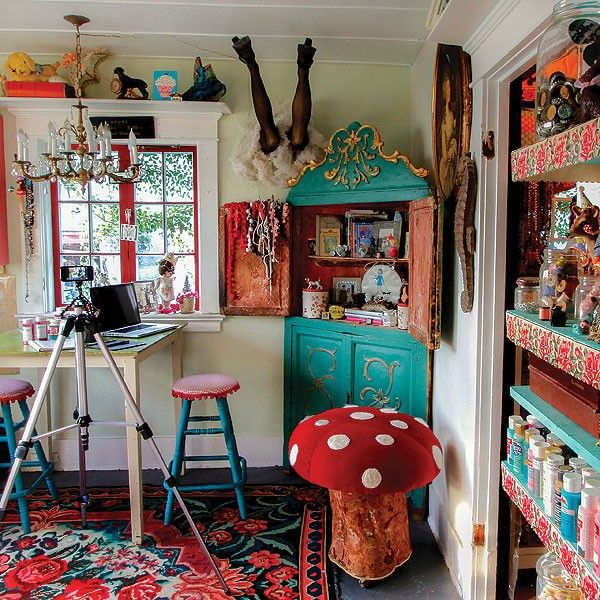 Where Women Create Winter 2015 -- the studio of Debi Beard