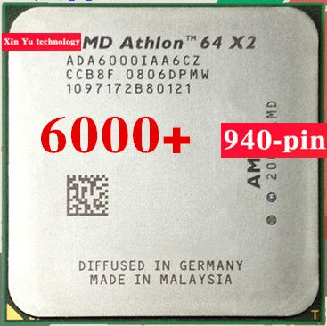Lifetime warranty Athlon 64 X2 6000+ 3.0GHz 2M Dual Core desktop processors CPU Socket