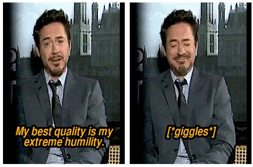 Robert Downey Jr on humility.