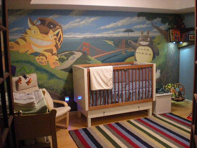 i loved totoro as a kid. i have always wanted a totoro themed nursery.