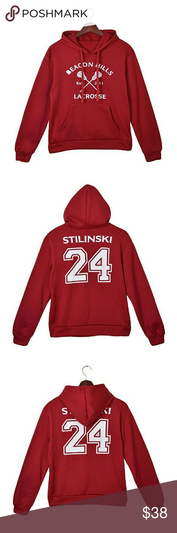 Teen wolf Stiles Stilinski #24 sweatshirt Cute teen wolf fleece lined pull over sweatshirt. Beacon hills lacrosse. Brand new never worn. Ordered online and it didn't fit me. Not urban outfitters. Urban Outfitters Tops Sweatshirts & Hoodies