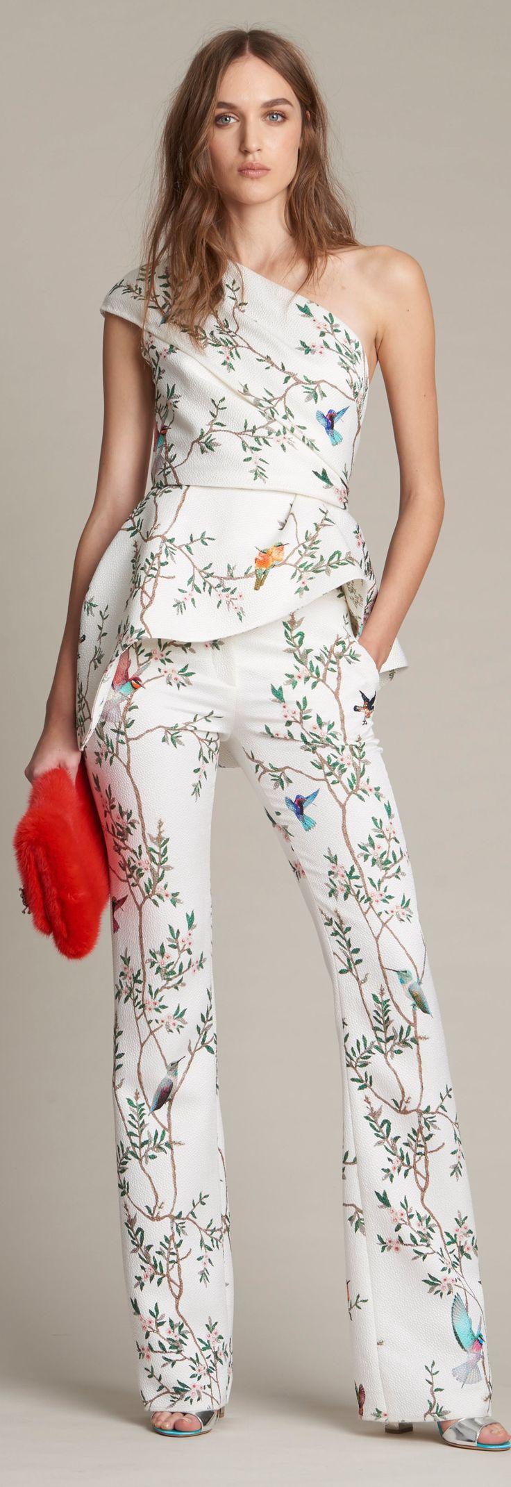 Monique Lhuillier Pre-Fall 2016 women fashion outfit clothing style apparel @roressclothes closet ideas