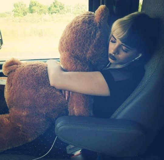 Just imagine sitting on a coach to somewhere on holiday and sitting down next to her with her massive Teddy Bear and being like - oh my gosh, Melanie!!