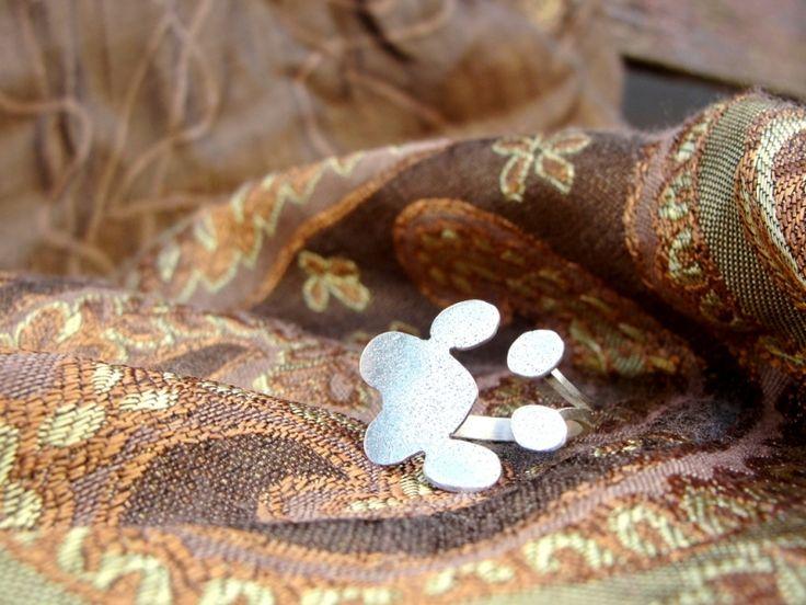 "Designer jewelry- silver ring. Bijuterie de autor - Inel ""Paw"""