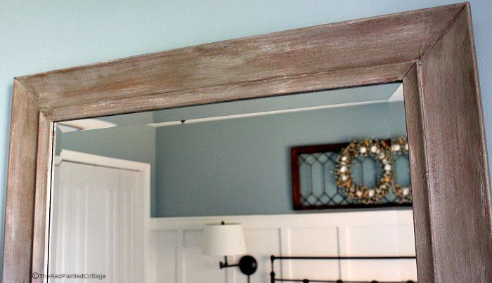 I came up with my own method of painting a composite/plastic mirror frame to look like just like wood, using chalk paint.  The frame was initially black and ine…