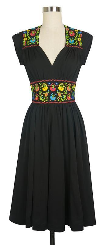 1940s style Del Rio Dress in Black