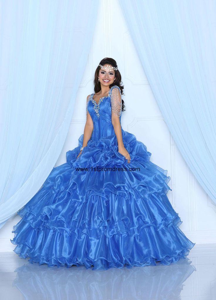 vestidos de 15 anos largos color azul (1)