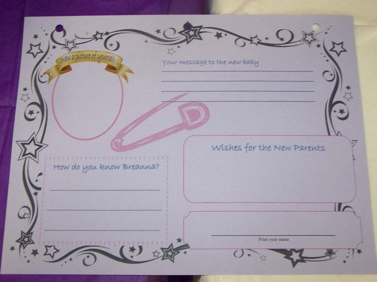 front page of baby shower guest book baby shower pinterest