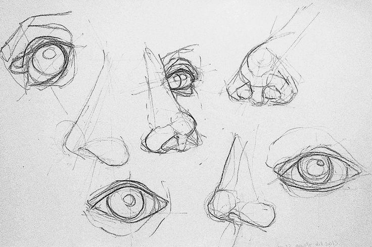 estudio de ojos y narices - Nico Ovalle Garcés