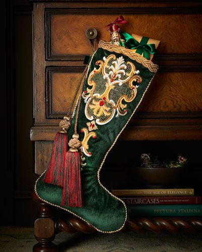 Jay Strongwater Bejeweled Christmas Stocking
