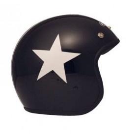 Casque DMD JET VINTAGE STAR Noir pour un look total rétro!