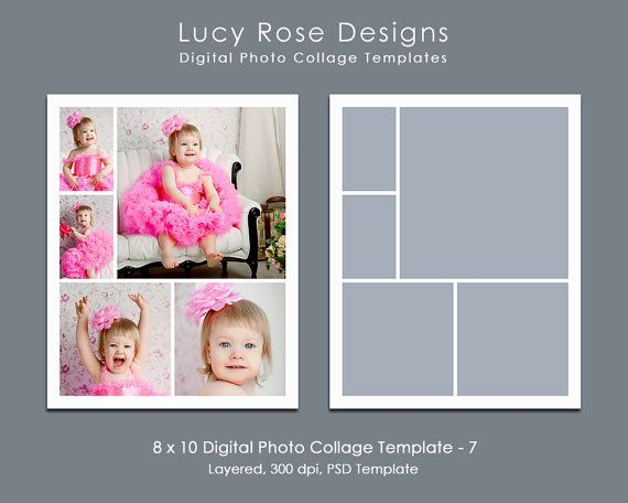 8 x 10 Photo Collage Template - 7