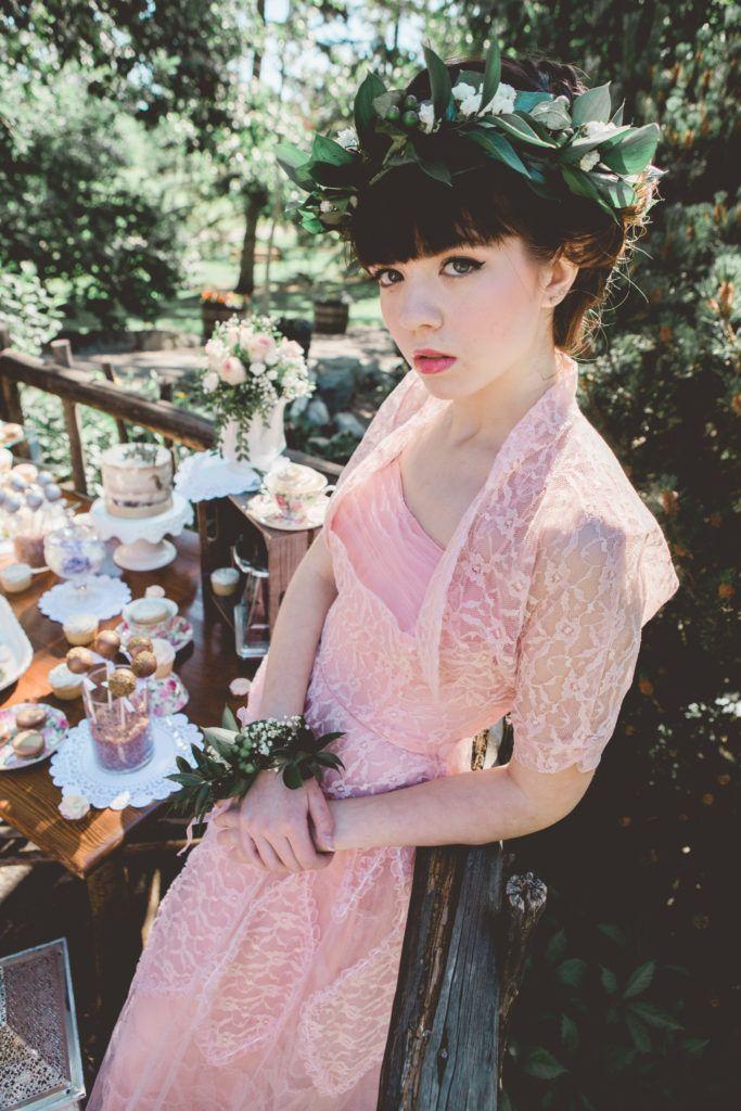 vintage bridesmaid dresses styled bridal tea party editorial photoshoot  bridal shower