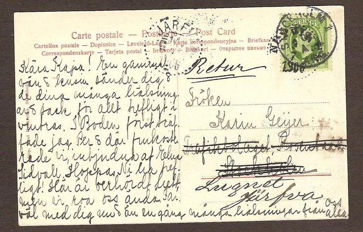 Renräkning i Pålänge Kalix Postgånget 1906 på Tradera.com - Vykort och