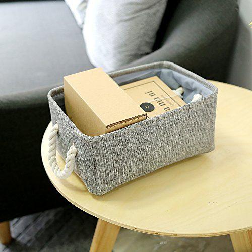 TheWarmHome Small Storage Basket Linen Storage Bins for Toy Storage,Grey - Big Sale Online Shopping USA