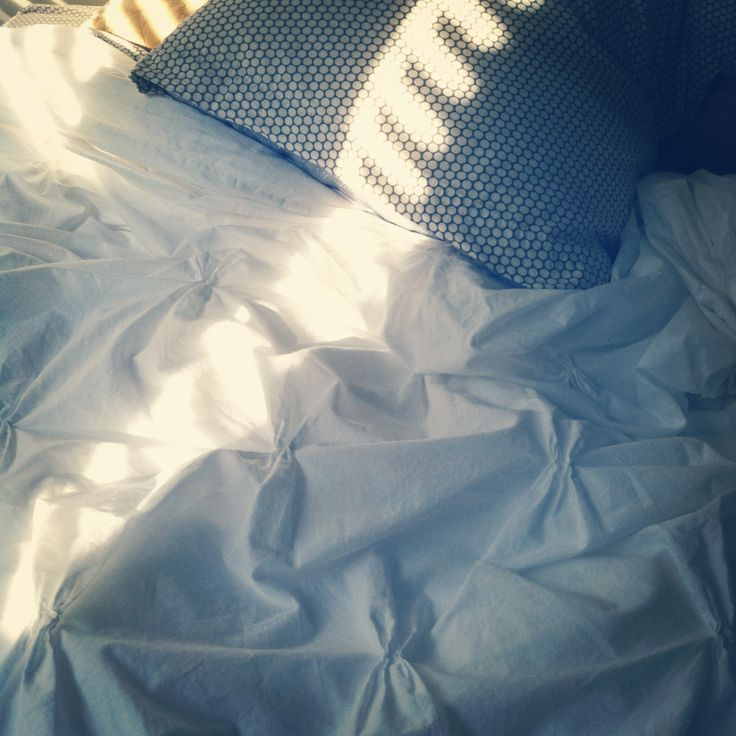 Pintucked white duvet: Bliss Bedrooms, Beds, My Life, Posts, Love It, White Duvet, Comforter, Mornings, Pillows