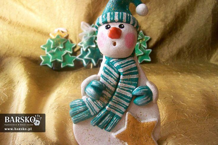 Salt Dough Snowmen Maurycy