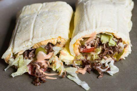 Low Carb Big Mac Wrap Rezept - Extrem Lecker und Low Carb!