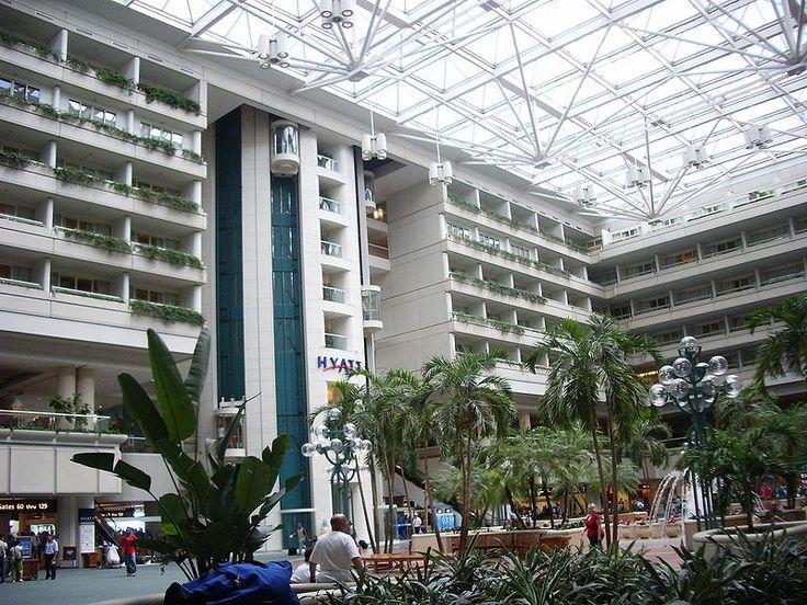 """""""Hotel Hyatt"""" (dentro do Aeroporto). """"Aeroporto Internacional de Orlando"""". #Orlando. Flórida, USA."""