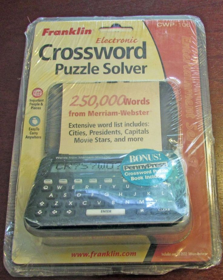 Franklin Electronic Crossword Puzzle Solver CWP- 106 New Sealed ...