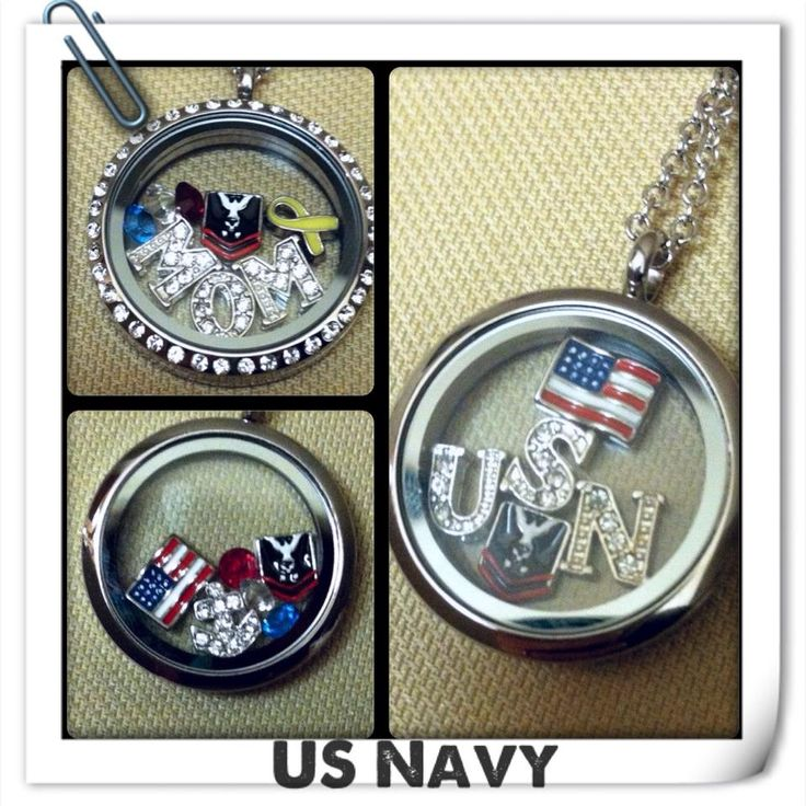 South Hill Designs lockets and charms, U.S. Navy themed!  shdcharmed@yahoo.com