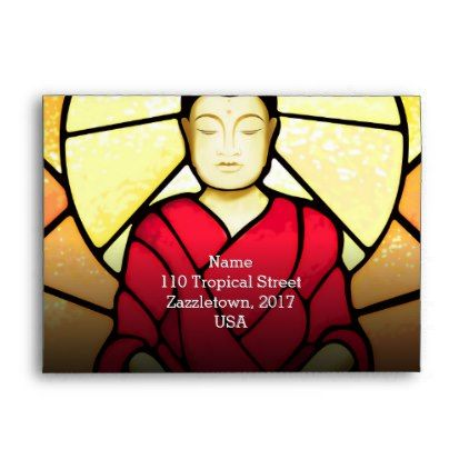 #Bali buddha stain glass window envelope - #office #gifts #giftideas #business