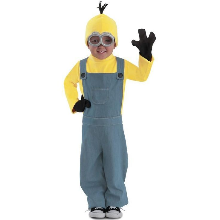 Recommend Full Set Boys Despicable Me Minion Movie Cosplay Clothing Child Halloween Carnival Fancy Dress Costumes