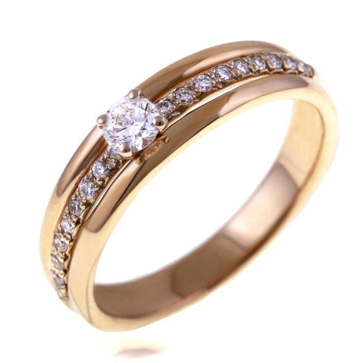 Bague Or jaune , Diamant