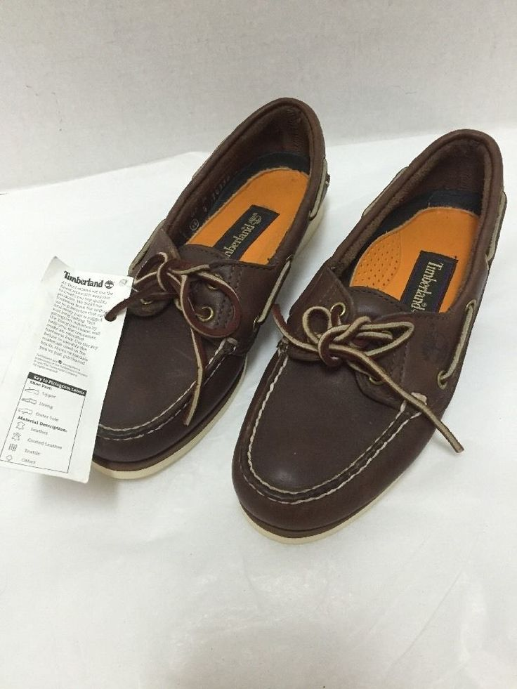 Timberland Deck Shoes Boat 74335 Womens Size 5.5 Made in USA Hand Sewn New #TIMBERLAND #BoatShoes #Casual