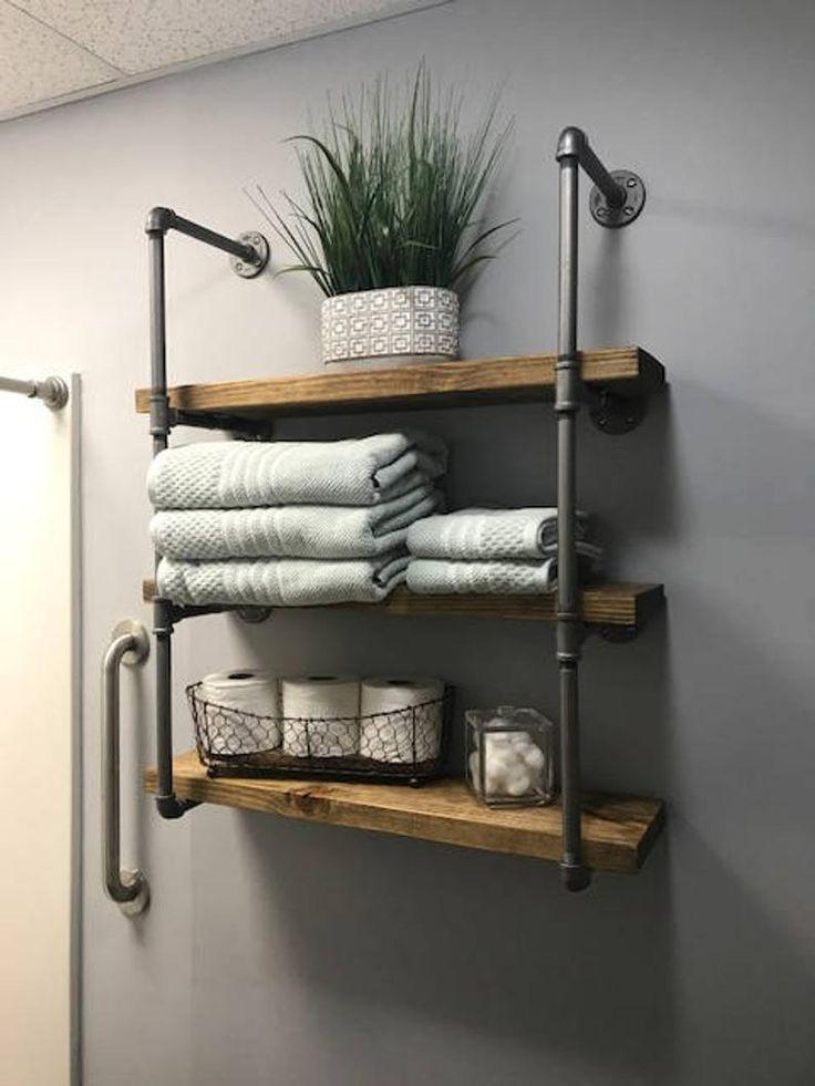 40 Badezimmer Regal Ideen Die Sie Sich Bauen Konnen Vereinfachtes Bauen Badezimmer Ba Badezimmer Regal Badezimmer Regal Ideen