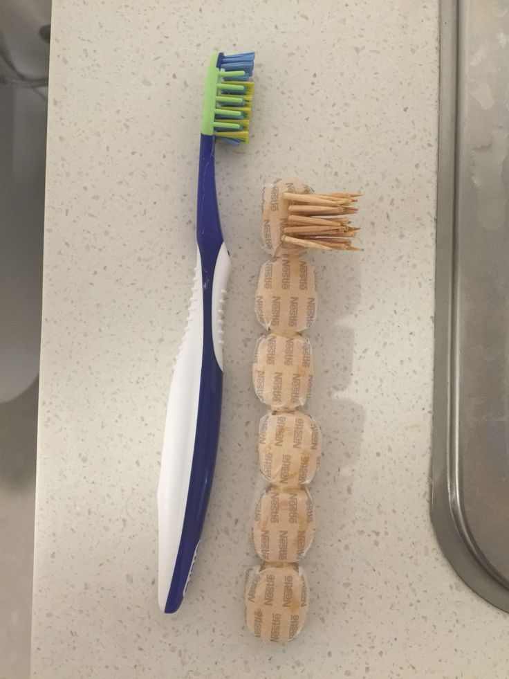 I changed toothbrush into sugar and toothpick. It changes comfortable to painful.