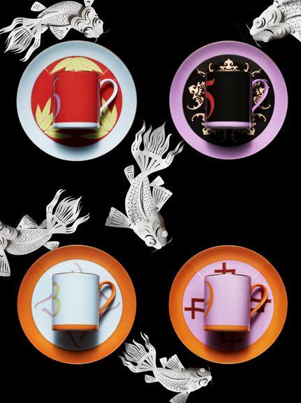 Koi Fish and Teacups