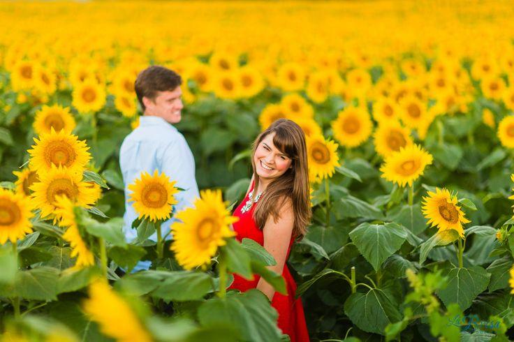 Inez Steffan In Field Of Flowers